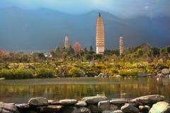 Three pagodas Stock Photo