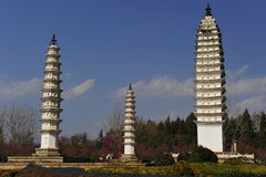 Three Pagodas Stock Image
