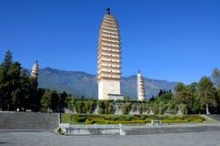 Three Pagodas Stock Image