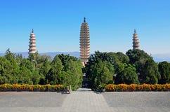 Three Pagodas Stock Photography