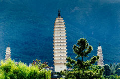 Three Pagodas of the Chongsheng Temple Royalty Free Stock Photography