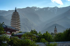 Three Pagodas of Chongsheng Temple, dating from the time of the Royalty Free Stock Image
