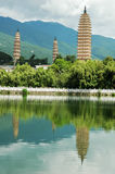 Three Pagodas in dali Royalty Free Stock Photography