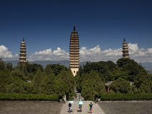 Three pagodas Stock Photography