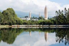 Three pagodas Dali China Royalty Free Stock Photography