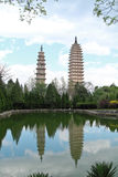 Three pagodas in Dali, China Stock Photos