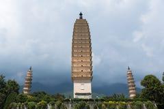 Three pagodas Dali Royalty Free Stock Image