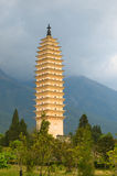 Three pagodas, Dali, Yunnan, China Royalty Free Stock Photo