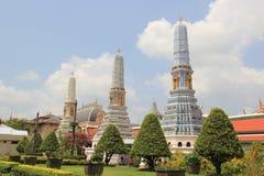Three Pagodas at Emerald Buddha Temple in Bangkok, Thailand Stock Images