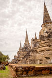 Three Pagodas Pagodas. Ancient Three Pagodas Pagoda in thailand Stock Images