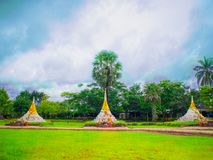 Three Pagodas Pass separating the Thai-Burmese border royalty free stock photos