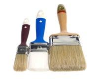 Three paint brushes Stock Photo