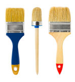 Three paintbrushes Royalty Free Stock Photos