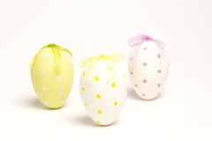 Three painted easter eggs Royalty Free Stock Photography