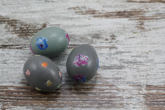 Three painted easter eggs Royalty Free Stock Image