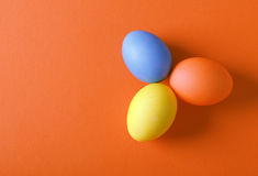 Three painted easter eggs Stock Photo