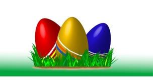 Three painteg easter eggs Stock Images