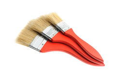 Three painting brush Royalty Free Stock Photography