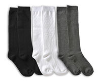 Three Pair of male socks Stock Photos
