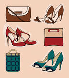 Three pair of shoes Royalty Free Stock Photo