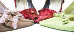 Free Three Pair Woman Shoes Royalty Free Stock Photos - 7422328