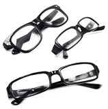 Three Pairs of Black Glasses Stock Image