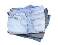Three Pairs of Blue Jeans Royalty Free Stock Photography