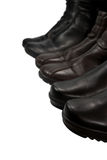 Three pairs boots Royalty Free Stock Images