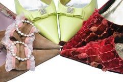 Three pairs elegance shoes Royalty Free Stock Image
