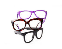 Three pairs eyeglasses Royalty Free Stock Image