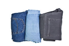 Three pairs of jeans Royalty Free Stock Images