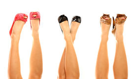 Three pairs of shoes Royalty Free Stock Image