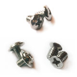 Three pairs of small screws Royalty Free Stock Images