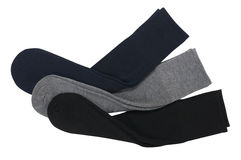 Three pairs of socks Stock Images