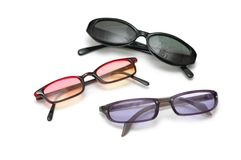 Three pairs of sunglasses Royalty Free Stock Photography