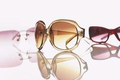 Three pairs of sunglasses studio shot Royalty Free Stock Photo