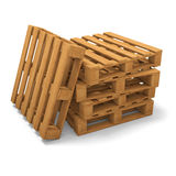 Three pallets stack Royalty Free Stock Photo