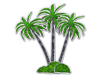 Three palm Royalty Free Stock Photography