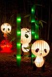 Three Pandas From the Panda's Paradise Display Royalty Free Stock Photos