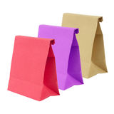 Three paper bag isolated on white background Royalty Free Stock Photo