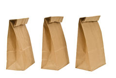 Three Paper Bag Lunches Stock Photography