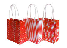 Three paper bags Stock Photography