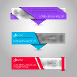Three paper banners. Stock Photography
