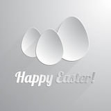 Three paper happy easter eggs. Vector illustration Stock Image