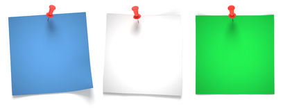 Three paper notes Royalty Free Stock Images