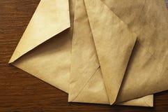 Three old postal envelope. Three  paper old postal envelope Stock Image