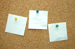 Three paper sheets Stock Image