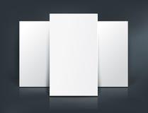 Three paper sheets mockup. Vector illustration Royalty Free Stock Image