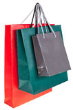 Three paper shopping bags Stock Photos