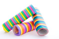 Three paper streamer Royalty Free Stock Image